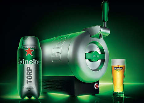 14 Heineken Branding Innovations - From Bluetooth Beer Boxes to Glow-In-The-Dark Lager Labels