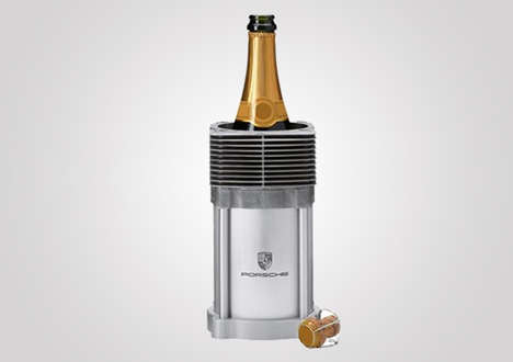 Car Engine Wine Coolers - Porsche Engine Cylinders Were Used for These Luxury Wine Coolers