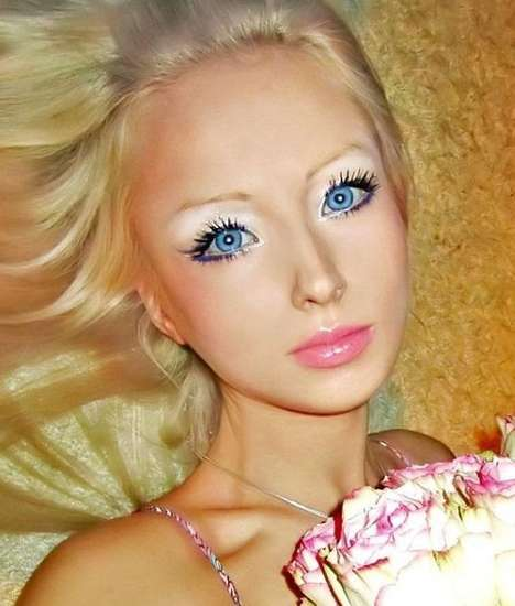 Real-Life Space Barbie Makeovers - Valeria Lukyanova Underwent a Transformation to Be Space Barbie