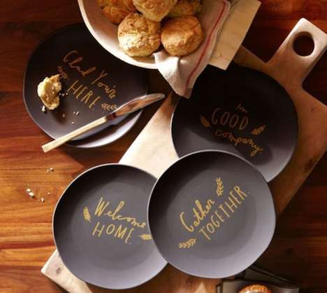 Heartfelt Inscribed Dinnerware - Make Your Guests Feel at Home with These Shanna Murray Salad Plates