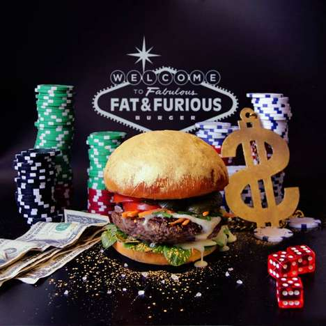Transformative Edible Burger Art - The 'Fat & Furious Burger' is a Hamburger You Can Tas