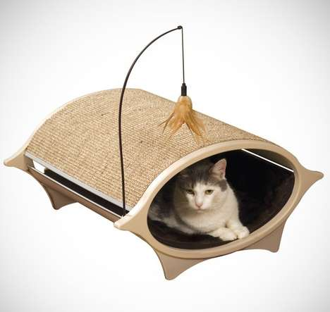 Cat Eye Kitty Scratchers - A Cat Bed Scratcher Keeps Your Furniture in Mint Condition