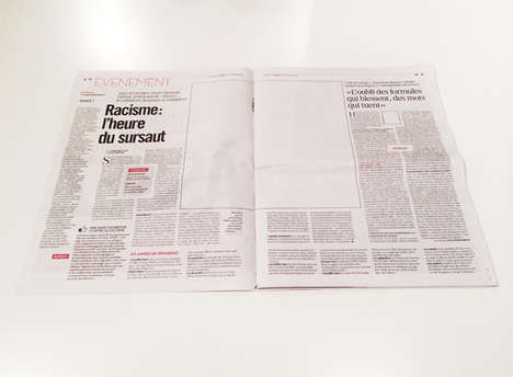 Picture-Less Newspaper Protests - A French Newspaper Edition Shows the Importance of Photography