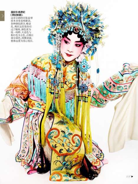 Oriental Opulence Portraits - The Grand Masters Vogue China Editorial Shows Cultural Couture