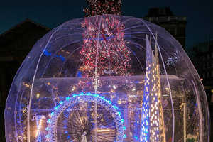 This Year, London's Covent Garden is Host to a Huge LEGO Snow Globe