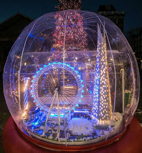 Toy Landmark Snow Globes - This Year, London's Covent Garden is Host to a Huge LEGO Snow Globe