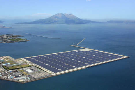 Buoyant Renewable Energy Plants - This Japanese Power Plant is Made Up of Floating Solar Panels