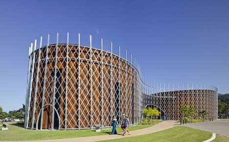 Curvilinear Caged Architecture - The Cairns Institute Design is Inspired by Tropical Landscapes