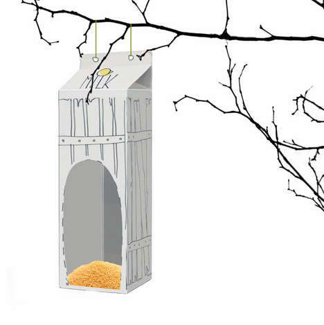 Avian-Accommodating Cartons - Bird