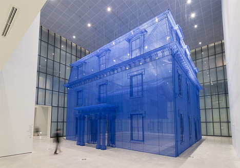 Silk-Inspired Homes - Homes Made Of Silk By Do Ho Suh Form a Transparent Inception