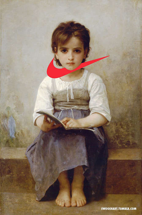 Logo-Incorporated Classical Paintings - Swoosh Art by Davide Bedoni Modernizes Vintage Artworks