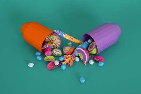 Medication-Inspired Paper Art - Vitamins & Placebo by Zim And Zou is Eye-Opening