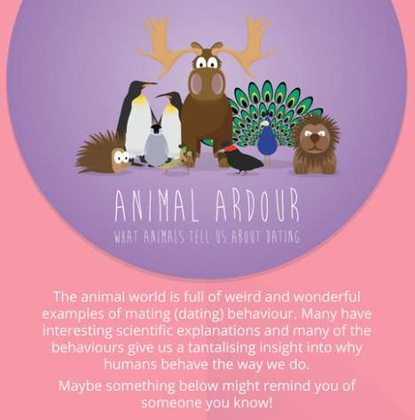 Animalistic Dating Infographics - FreeDating.co.uk Compares Mating Rituals in Humans and Animals
