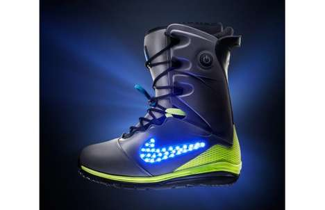 Glowing Logo Boots - The Nike Snowboarding LunarENDOR Quickstrike is Visible for Afar