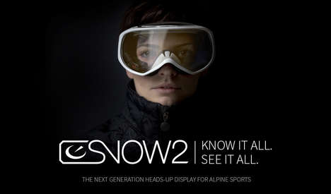 Alpine Tech-Improved Goggles - The Snow2 by Recon Instruments Implements Safety Tech on the Slopes