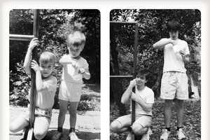 Two Brothers Duplicate Family Photos 20 Years Later for Their Mom