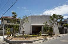Polygonal Brick Abodes - The Shirasu House Has a Flat Top and Whimsically Angular Walls