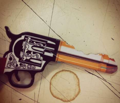 Old West Weapon Keys - Personalize Your Set of Keys with a Cowboy Gun Door Key