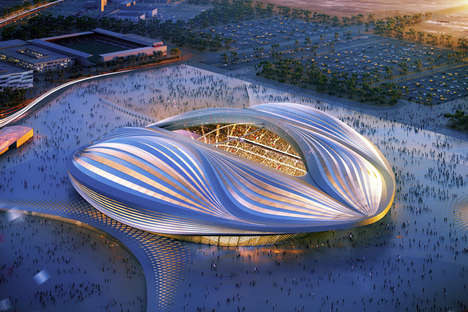 Dhow-Inspired Architecture - The Qatar 2022 World Cup Stadium by Zaha Hadid is All Sweeping Lines