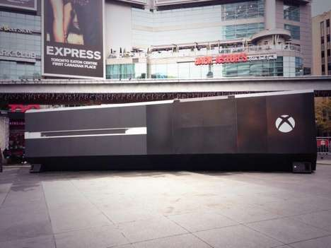 Gargantuan Gamer Displays - The Giant Xbox One Console in Toronto Brought the Community Together