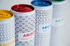 Purist Patterned Pop Cans - Arizona Tea Packaging Simplifies the Busy Motifs of the Existing Look