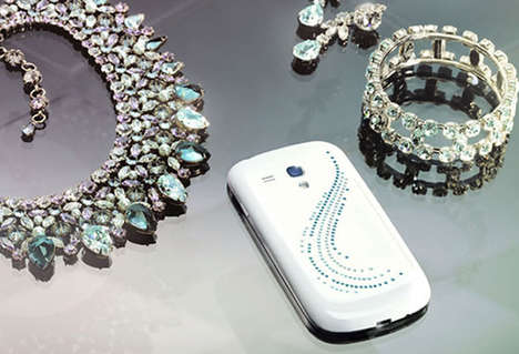 Luxuriously Adorned Smartphones - The Samsung Crystal Edition Galaxy is Made with Swarovski Crystals