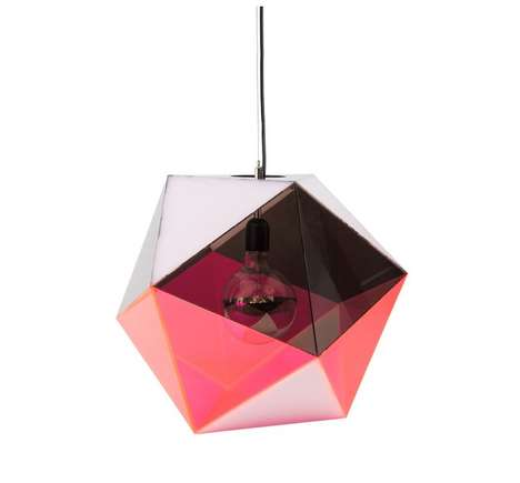 Angular Orb Pendant Lamps - A Icosahedron Pendant Light Infuses Your Space with Simple Shapes