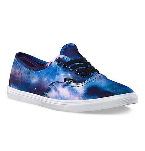 Cosmic Canvas Kicks - The Vans Cosmic Galaxy Shoes Will Take You the Moon and Back