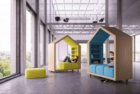 House-Shaped Office Furniture - Break-Out Furniture by Dymitr Malcew Provides Creative Privacy