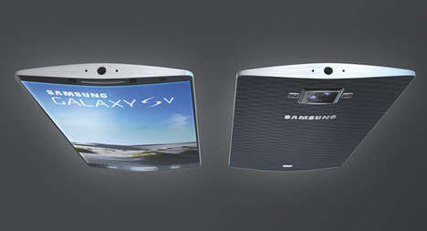 Aerodynamic Mobile Designs - This Samsung Galaxy SV Has Sharp Edges for a Wonderfully Wide Screen