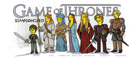 Cartoon Medieval Mashups (UPDATE) - Adrien Noterdaem Revisits His Game of Thrones Simpsons Mashup