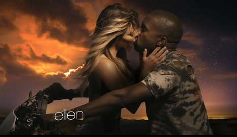 Sensual Celebrity Liason Videos - Kanye West's 'Bound 2' Features His Topless Fian