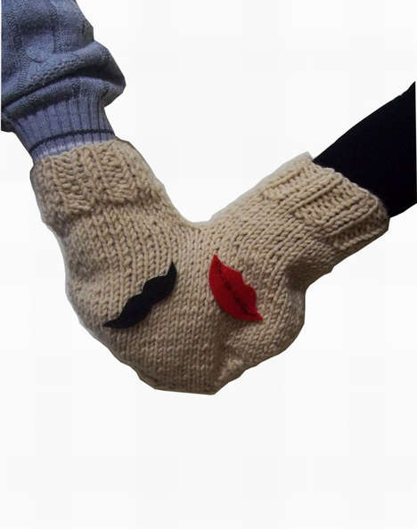 Romance-Enabling Winter Gloves - These Romantic Mittens are Perfect for a Duo in Love
