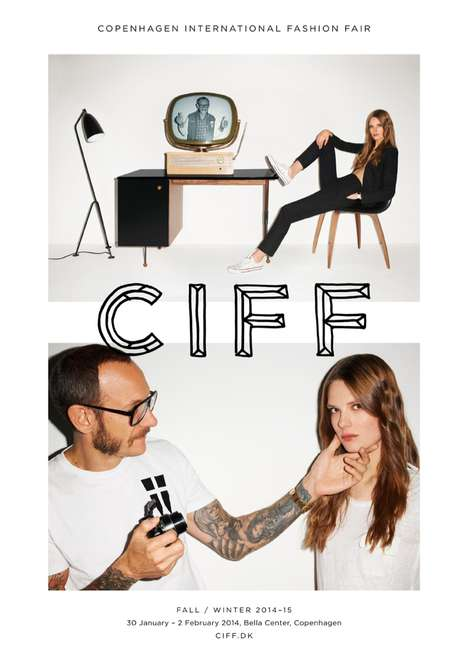 Fashion Fair Ads - The CIFF FW14 Campaign Stars Terry Richardson & Caroline Brasch Nielsen