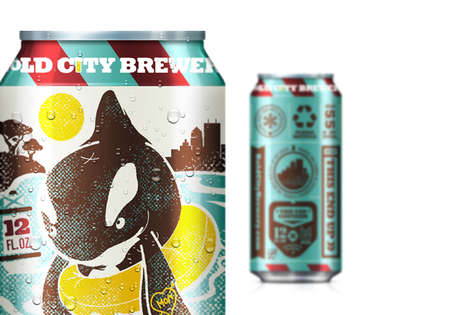 Animalistic Booze Branding - Bold City Beer Packaging Has Animated Faces Behind it