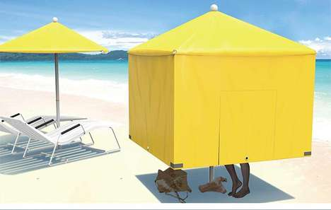 Multipurpose Seaside Parasols - The Beach Assistant Adapts to Meet Your Assorted Needs