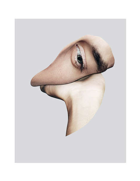Ambiguous Body Collages - The UNTITLED # Image Series Distorts Human Faces and Figures