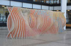 Curvaceous Crayon Installations - This Pencil Crayon Installation Comes From 'Variable Projects'