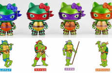 Crime-Fighting Figurine Mashups - Hello Kitty Ninja Turtles Put an Unlikely Twist on a Classic