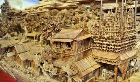 Commodious Tree-Carved Art - This Chinese Artist Has Broken the Record for the Longest Wood Carving