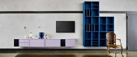 Colorful Minimalist Storage Systems - The Montana Shelving Units are Made for Contemporary Homes