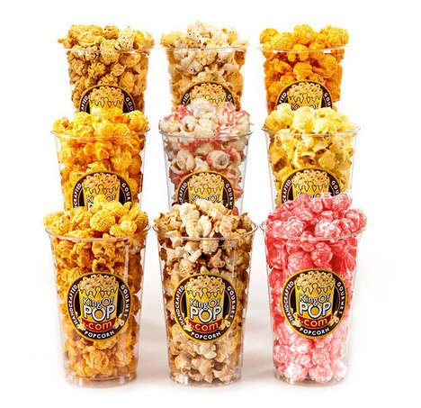 Holiday-Flavored Gourmet Popcorn - King of Pop Created This Indulging Thanksgiving Meal Treat