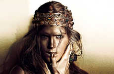 Dark Heroine Editorials - The Fashion Magazine Photoshoot Stars Pamela Bernier