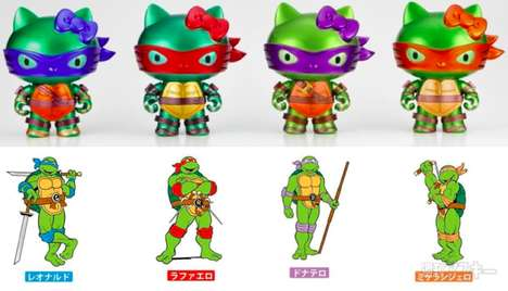 Turtle-Inspired Cat Dolls - These Hello Kitty Ninja Turtles are Purrrfect