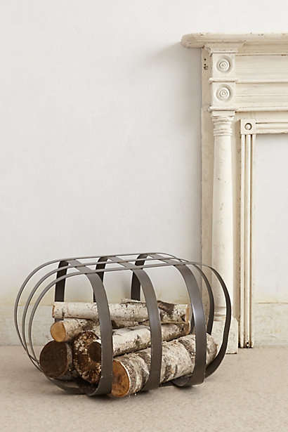 Domed Wood Storage - The Caged Log Holder From Anthropologie is Industrial