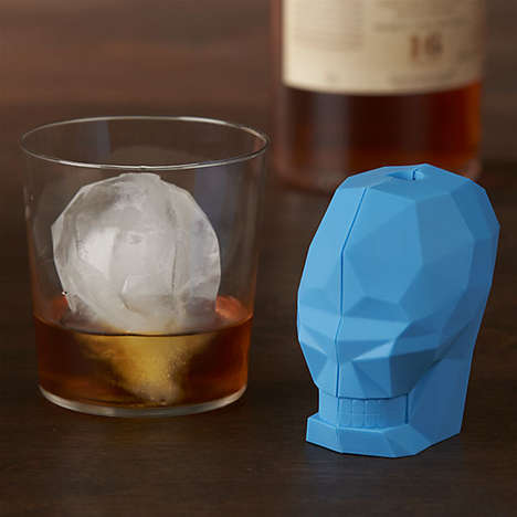 Cranium Freezing Accessories - The Skull Ice Cube Mold From CB2 Features a Cleverly Creepy Design