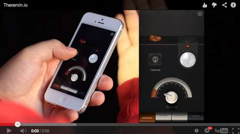 Touchless Musical Apps - This Sensory iPhone App Translates Movement Into Music