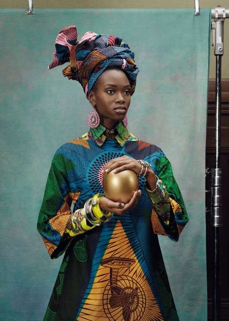 Elegant African Queen Campaigns - The Vlisco Hommage a l'Art Collection Celebrates Ethnic Prin