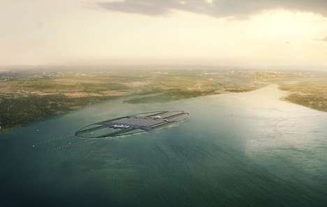 The London Britannia Airport is a Floating Island of Technology