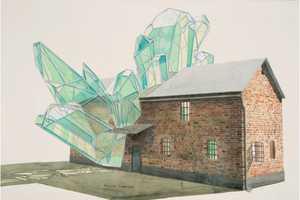 These Geometric Sculpture Watercolors Blur Perceptive Lines
